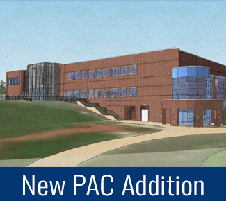 Image of the new addition to the Performing Arts Center Building