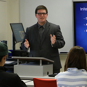 Ryan McManus returns to Sussex to advise current business students.